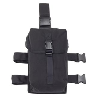 Elite Survival Systems Gas Mask Thigh Rig Black