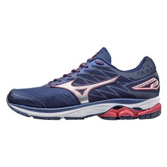 Mizuno Wave Rider 20 Blue Depths / Silver / Chinese Red