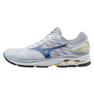 Mizuno Wave Rider 20 White / Strong Blue / Cyber Yellow
