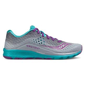 Saucony Kinvara 8 Gray / Teal / Purple