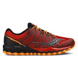 Saucony Peregrine 7 Red / Orange / Black