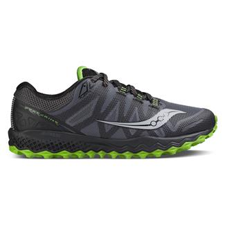 Saucony Peregrine 7 Gray / Black / Lime