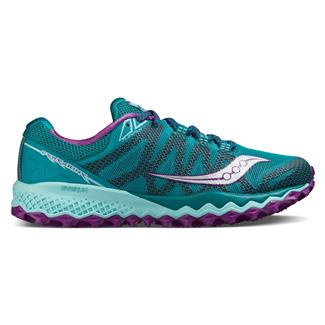 Saucony Peregrine 7 Teal / Purple / Citron