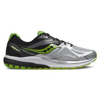 Saucony Ride 9 Silver / Black / Lime