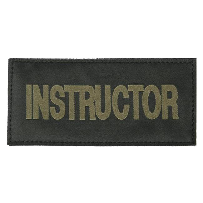 Blackhawk Instructor Patch Green on Black