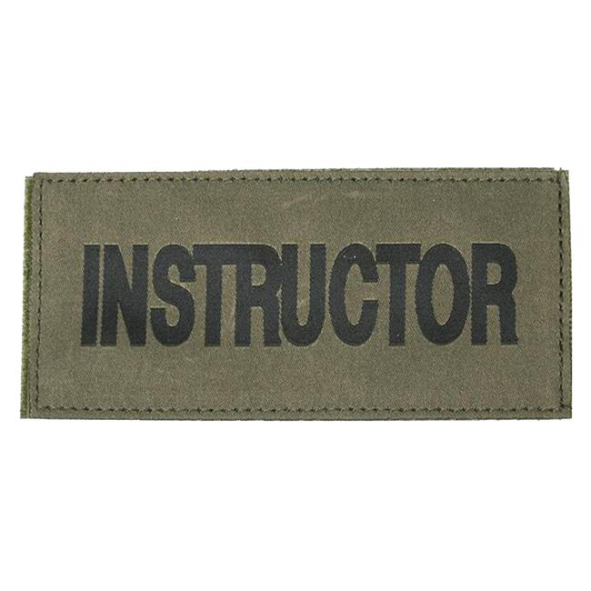 Blackhawk Instructor Patch Black on Green
