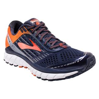 Brooks Ghost 9 Peacoat/Red Orange / Black