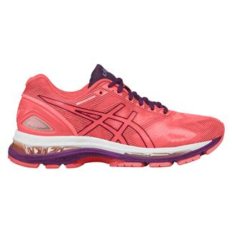 ASICS GEL-Nimbus 19 Flash Coral / Dark Purple / White