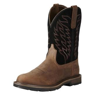 "Ariat 10"" Groundbreaker Pull-On ST Brown / Black"