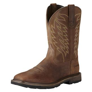 "Ariat 10"" Groundbreaker Wide Square Toe ST Brown"