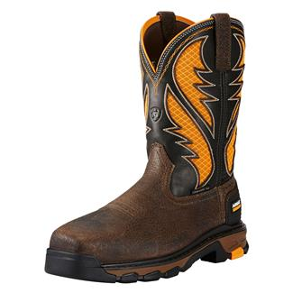 "Ariat 11"" Intrepid VentTek CT Cocoa Brown / Work Orange"