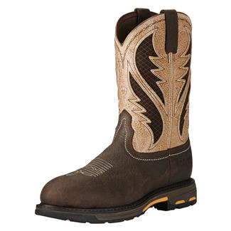 "Ariat 11"" Workhog VentTek CT Bruin Brown / Stone"