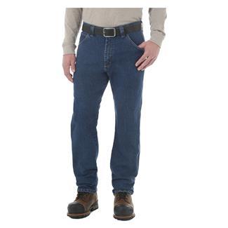 Wrangler Riggs Advanced Comfort Five Pocket Jeans Mid Stone