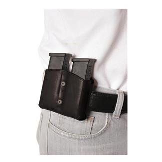 Blackhawk Leather Dual Mag Pouch for Double Stack Mags Black