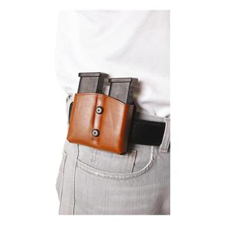 Blackhawk Leather Dual Mag Pouch for Double Stack Mags Brown