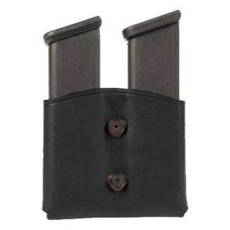 Blackhawk Leather Dual Mag Pouch for Single Stack Mags Black