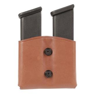 Blackhawk Leather Dual Mag Case for Single Stack Mags Brown