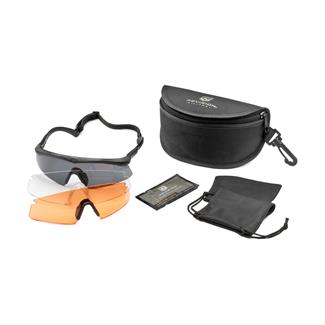 Revision Military Sawfly Shooters Kit Deluxe Black (frame) - Clear / Solar / Vermillion High-contrast (3 lenses)