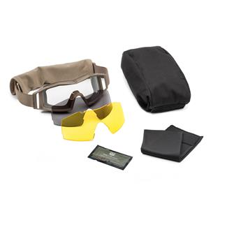 Revision Military Wolfspider Goggle Deluxe Coyote Tan (frame) - Clear / Solar / Yellow High-contrast (3 lenses)