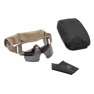 Revision Military Wolfspider Goggle Military Kit Coyote Tan (frame) - Clear / Smoke (2 lenses)