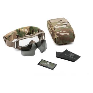 Revision Military Wolfspider Goggle Military Kit Tan 499 (frame) - Clear / Smoke (2 lenses)