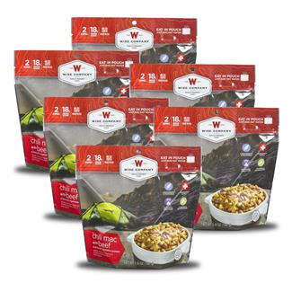Wise Food Outdoor Meal Pouches (6 Count) Chili Mac with Beef