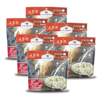 Wise Food Outdoor Meal Pouches (6 Count) Pasta Alfredo with Chicken