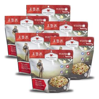 Wise Food Outdoor Meal Pouches (6 Count) Teriyaki Chicken & Rice