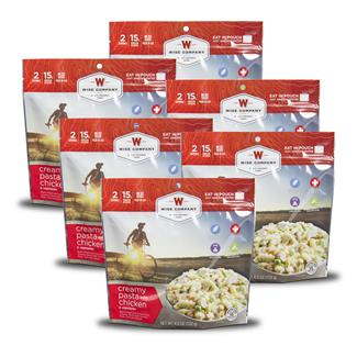 Wise Food Outdoor Meal Pouches (6 Count) Creamy Pasta & Vegetables with Chicken