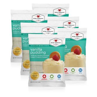 Wise Food Dessert Packs (Six Count) Vanilla Pudding