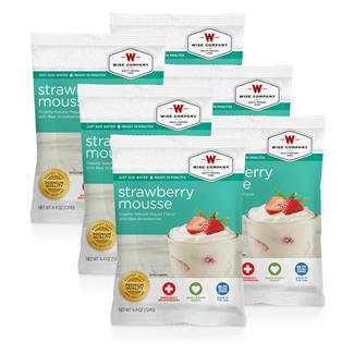 Wise Food Dessert Packs (Six Count) Strawberry Mousse