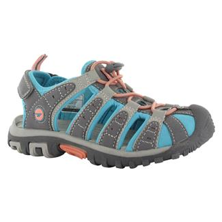 Hi-Tec Cove JR Cool Gray / Blue Curacao / Papaya