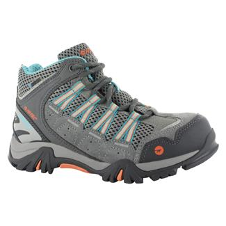 Hi-Tec Forza Mid JR WP Cool Gray / Blue Curacao / Papaya Punch