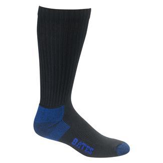 Bates Cotton Comfort Crew Socks - 12 Pair Black