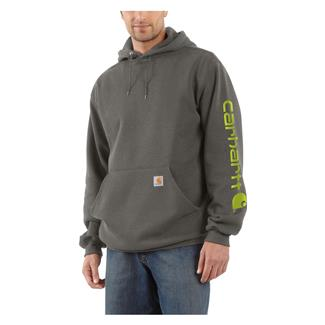 Carhartt Midweight Logo Hoodie Charcoal Heather