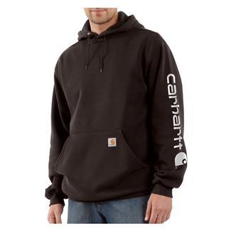 Carhartt Midweight Logo Hoodie Dark Brown