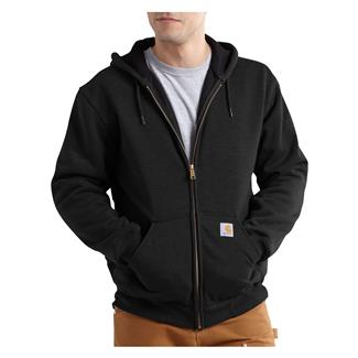 Carhartt Rutland Thermal-Lined Front Zip Hoodie Black