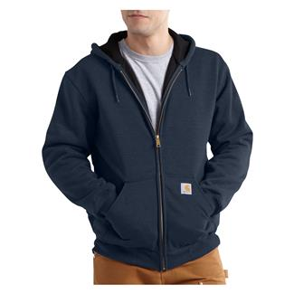 Carhartt Rutland Thermal-Lined Front Zip Hoodie New Navy