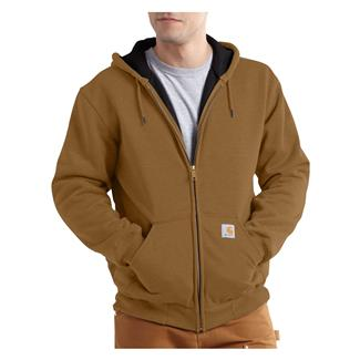Carhartt Rutland Thermal-Lined Front Zip Hoodie Carhartt Brown