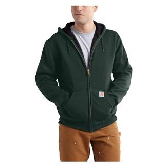 Carhartt Rutland Thermal-Lined Front Zip Hoodie Canopy Green