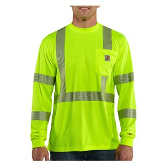Carhartt Force Hi-Vis Class 3 Long Sleeve T-Shirt Brite Lime