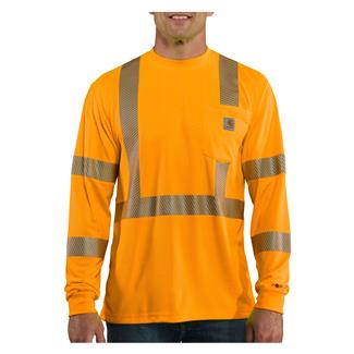 Carhartt Force Hi-Vis Class 3 Long Sleeve T-Shirt Brite Orange