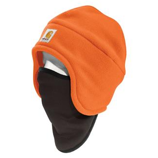 Carhartt Hi-Vis Color Enhanced 2 in 1 Fleece Headwear Brite Orange
