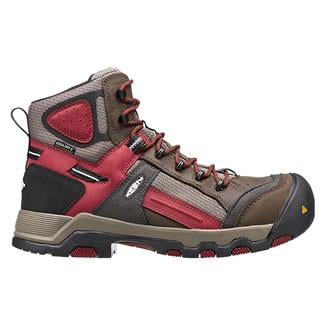 Keen Utility Davenport Mid CT WP Cascade Brown / Red Dahlia