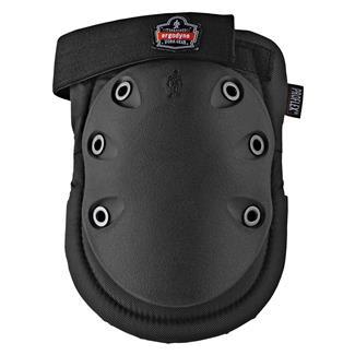 Ergodyne Slip Resistant Rubber Cap Knee Pad Black