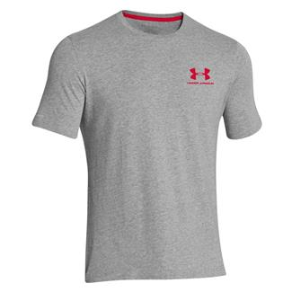 Under Armour Charged Cotton Sportstyle T-Shirt True Gray Heather / Red