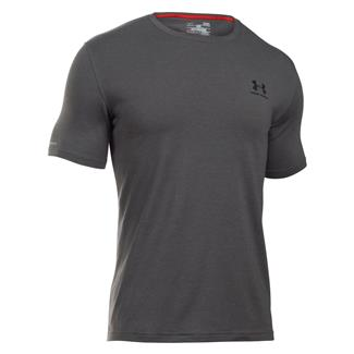 Under Armour Charged Cotton Sportstyle T-Shirt Carbon Gray Heather / Black