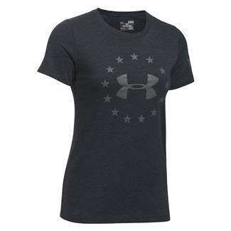 Under Armour HeatGear Freedom T-Shirt Black / Graphite