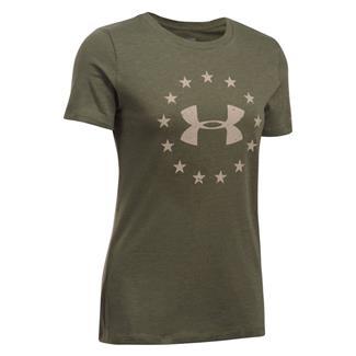 Under Armour HeatGear Freedom T-Shirt Marine OD Green / Desert Sand