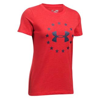 Under Armour HeatGear Freedom T-Shirt Red / Blackout Navy